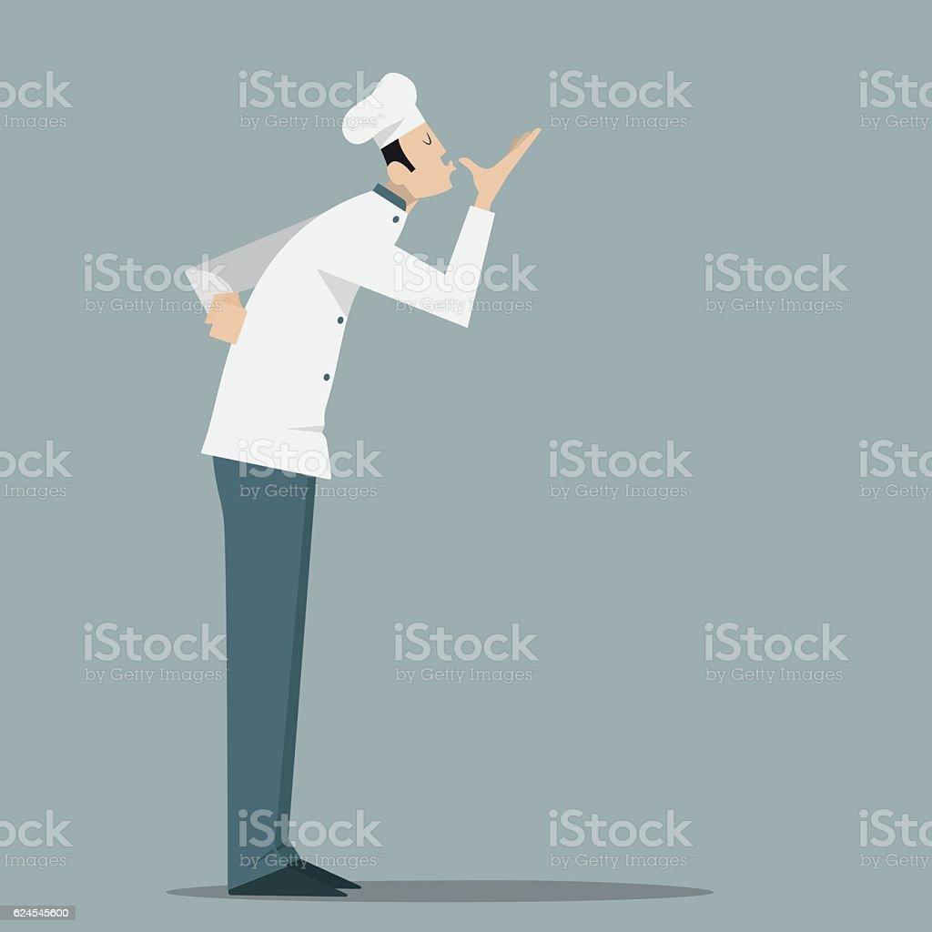 Italian Chef Kiss. vector art illustration