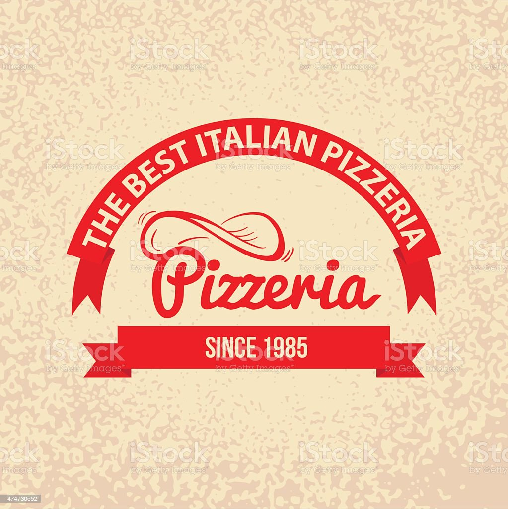 Italian cuisine Retro Vintage Label vector art illustration