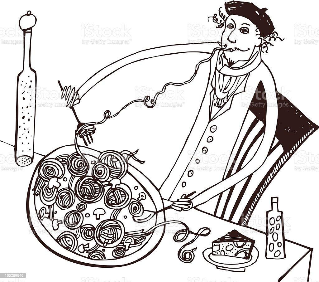 ??????????? ?????/Italian cuisine royalty-free stock vector art