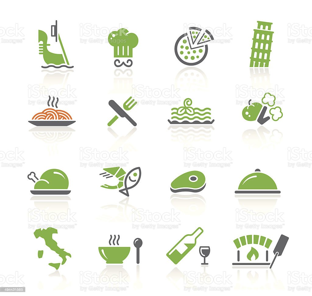 Italian Culture & Food | Spring Series vector art illustration
