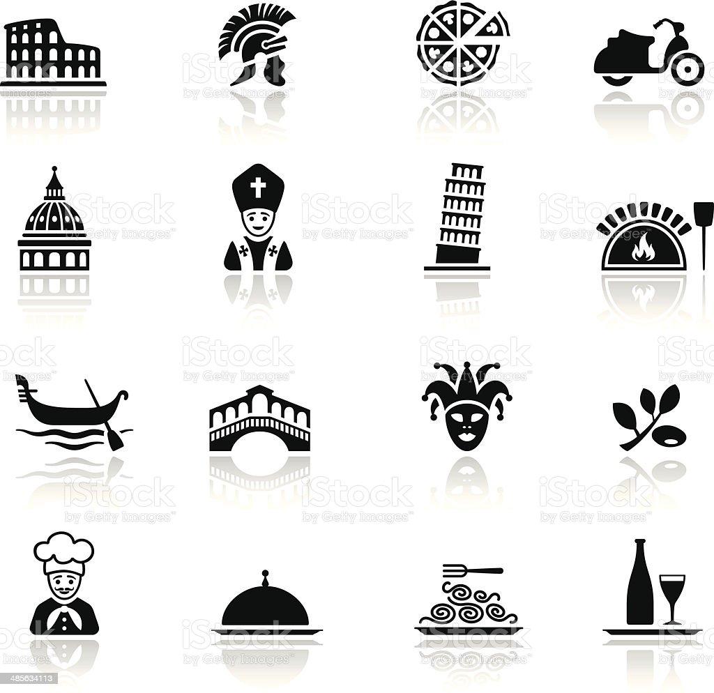Italian Culture Icon Set vector art illustration