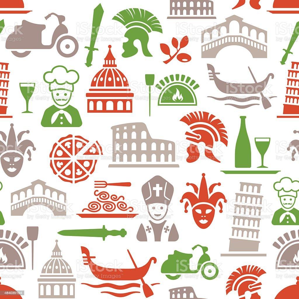 Italian Culture Pattern vector art illustration