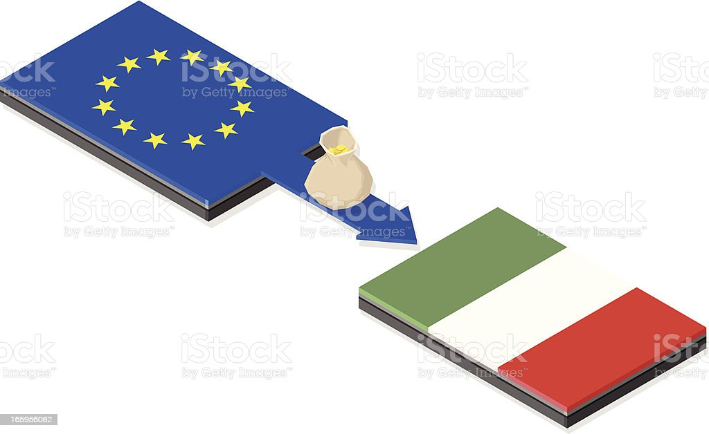 Italian Euro Bailout royalty-free stock vector art