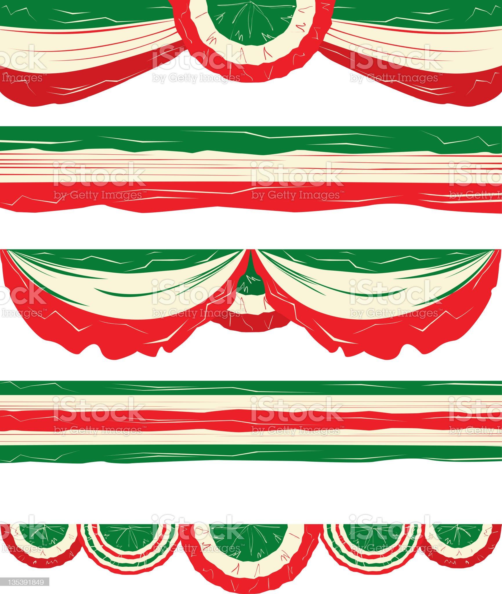 Italian  Flag design elements or Runners royalty-free stock vector art