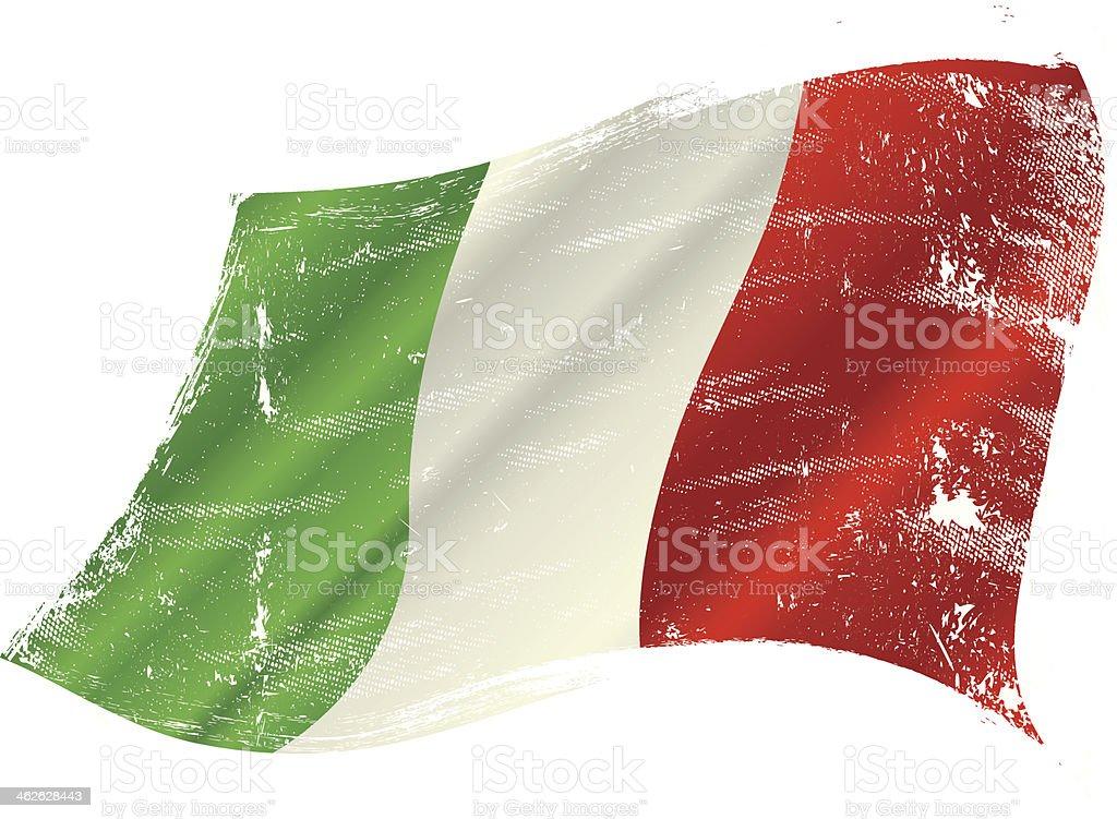 Italian flag grunge vector art illustration