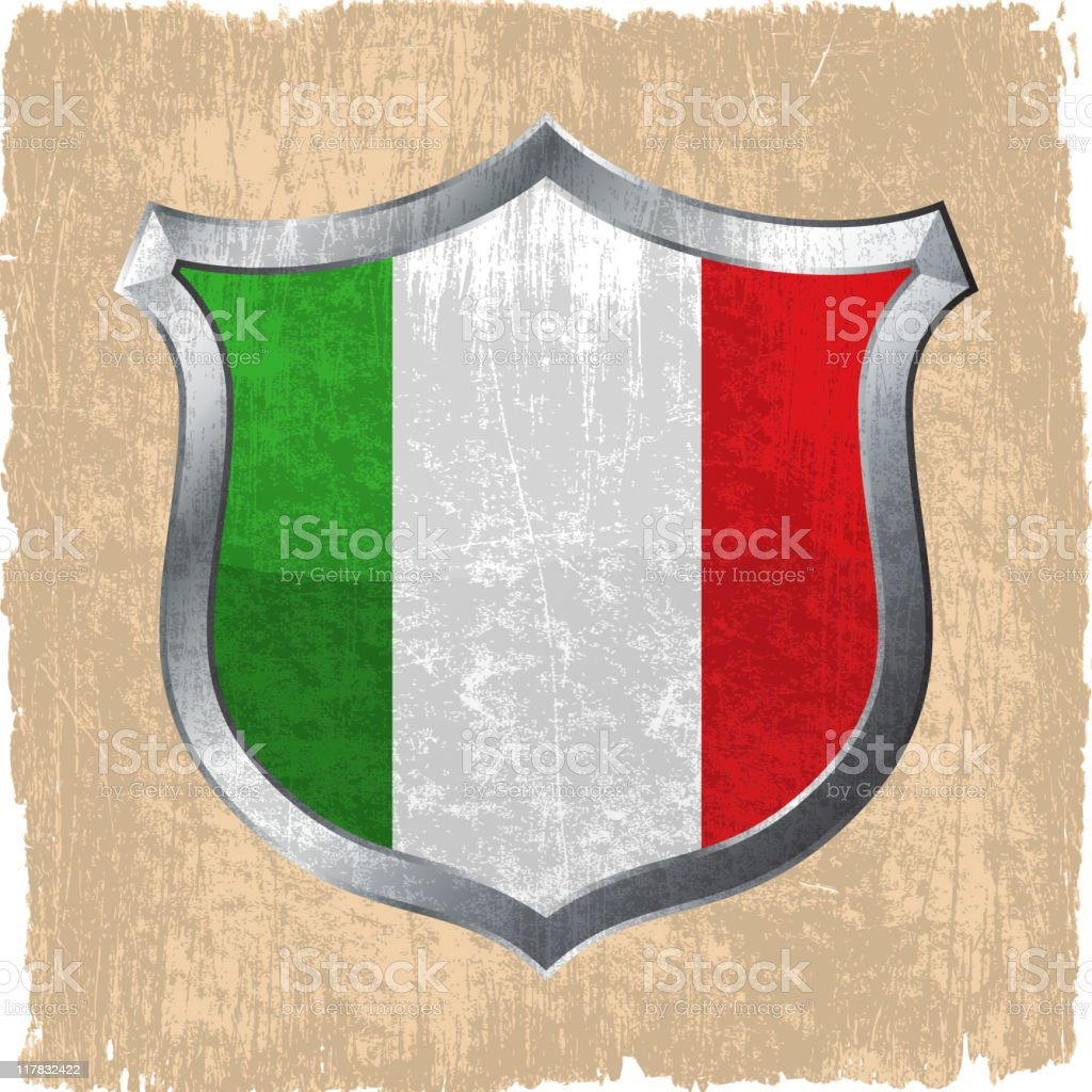 Italian flag on royalty free vector Background royalty-free stock vector art