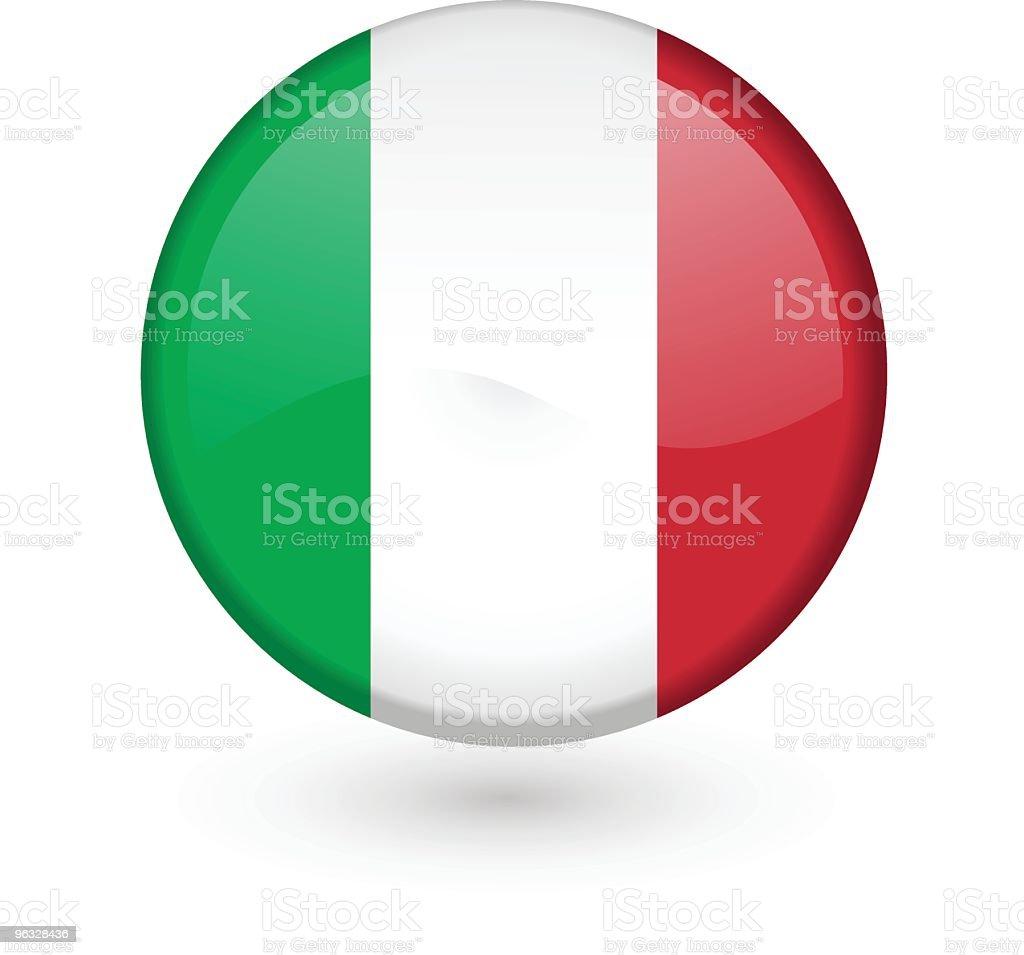 Italian flag vector button royalty-free stock vector art