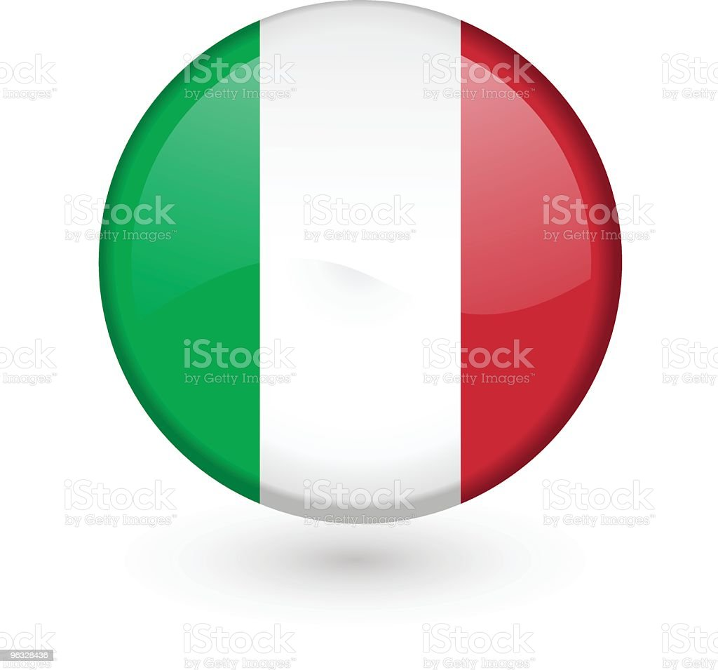 Italian flag vector button vector art illustration