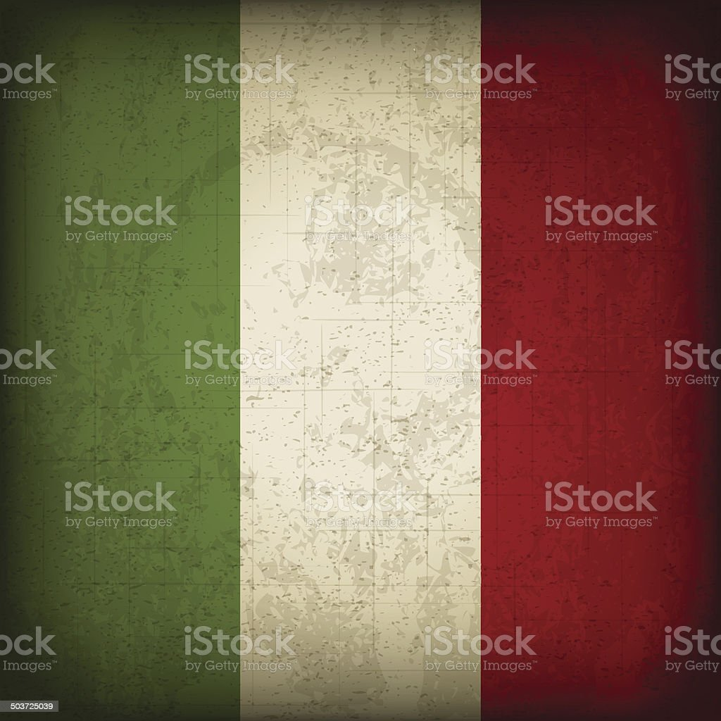 Italian Flag vector art illustration