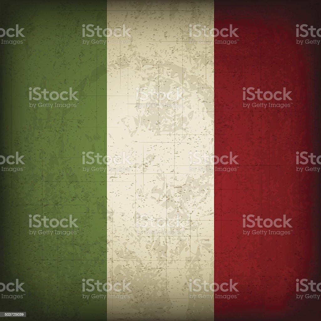 Italian Flag vector art illustration