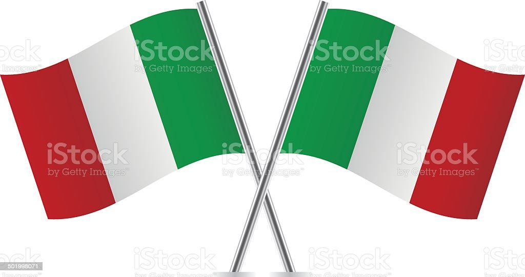 Italian Flags Vector vector art illustration