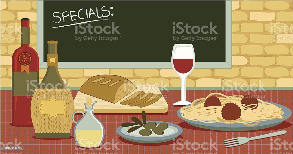 Italian food and restaurant royalty-free stock vector art