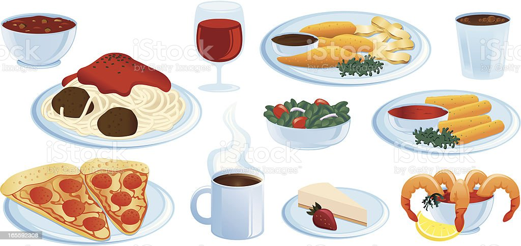 Italian Food royalty-free stock vector art