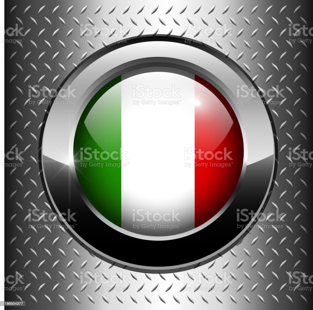 Italian, Italy flag button royalty-free stock vector art