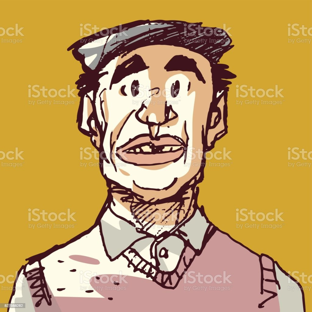 Italian Man vector art illustration