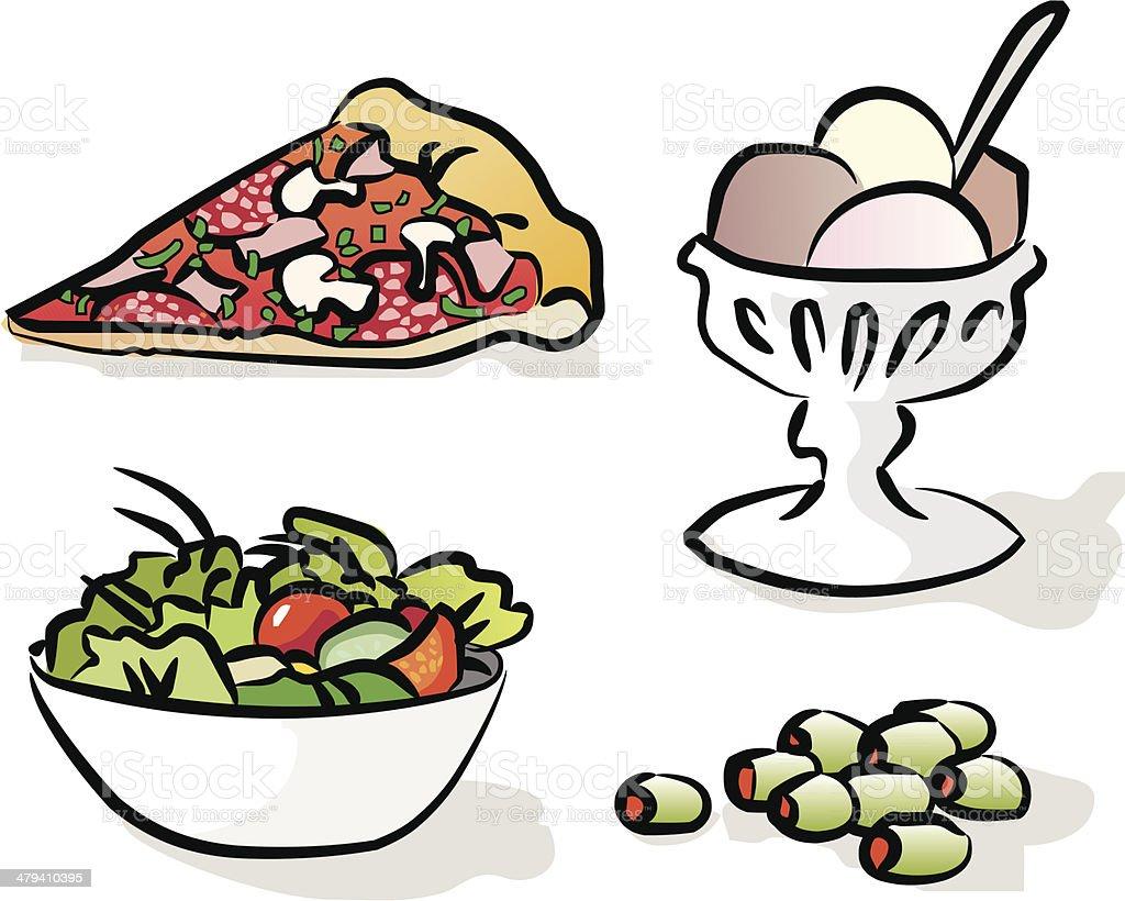 Italian menu (vector & jpg) vector art illustration