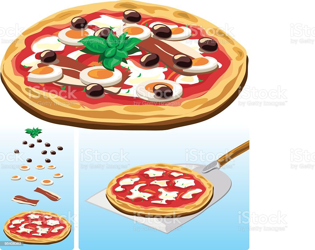 Italian Pizza illustration vector art illustration