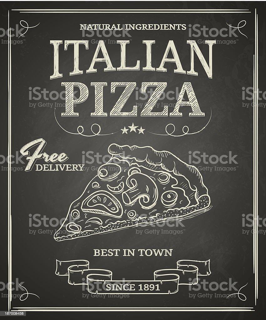 Italian Pizza Poster royalty-free stock vector art