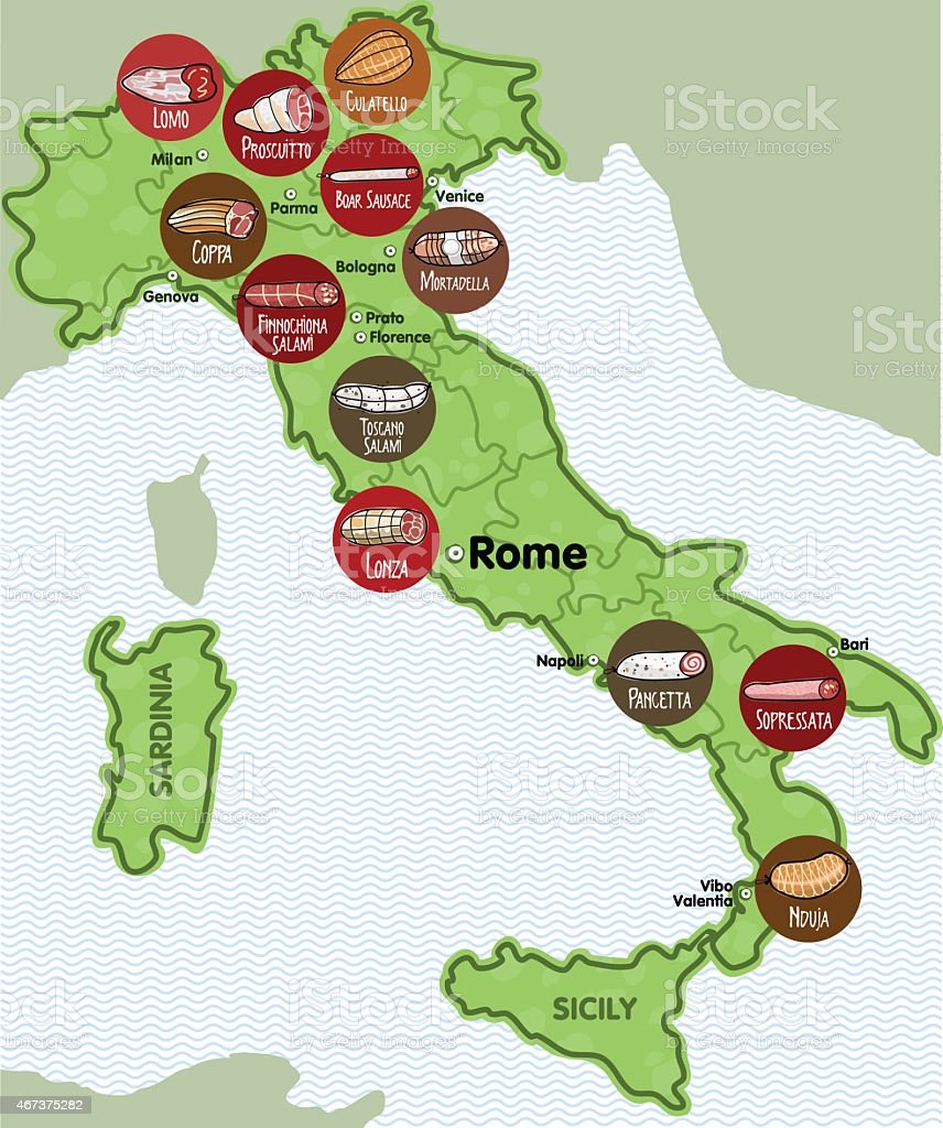 Italian Sausage vector art illustration