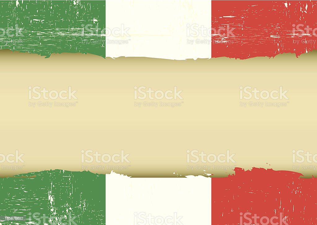 Italian scratched flag vector art illustration