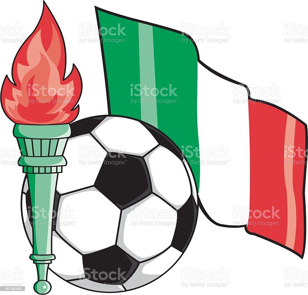 Italian Soccer Emblem royalty-free stock vector art