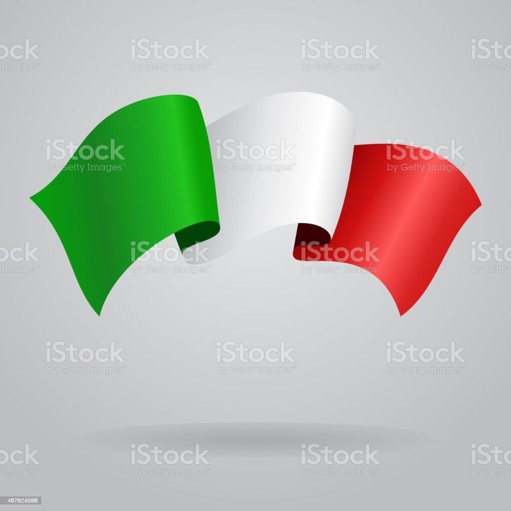 Italian waving Flag. Vector illustration vector art illustration