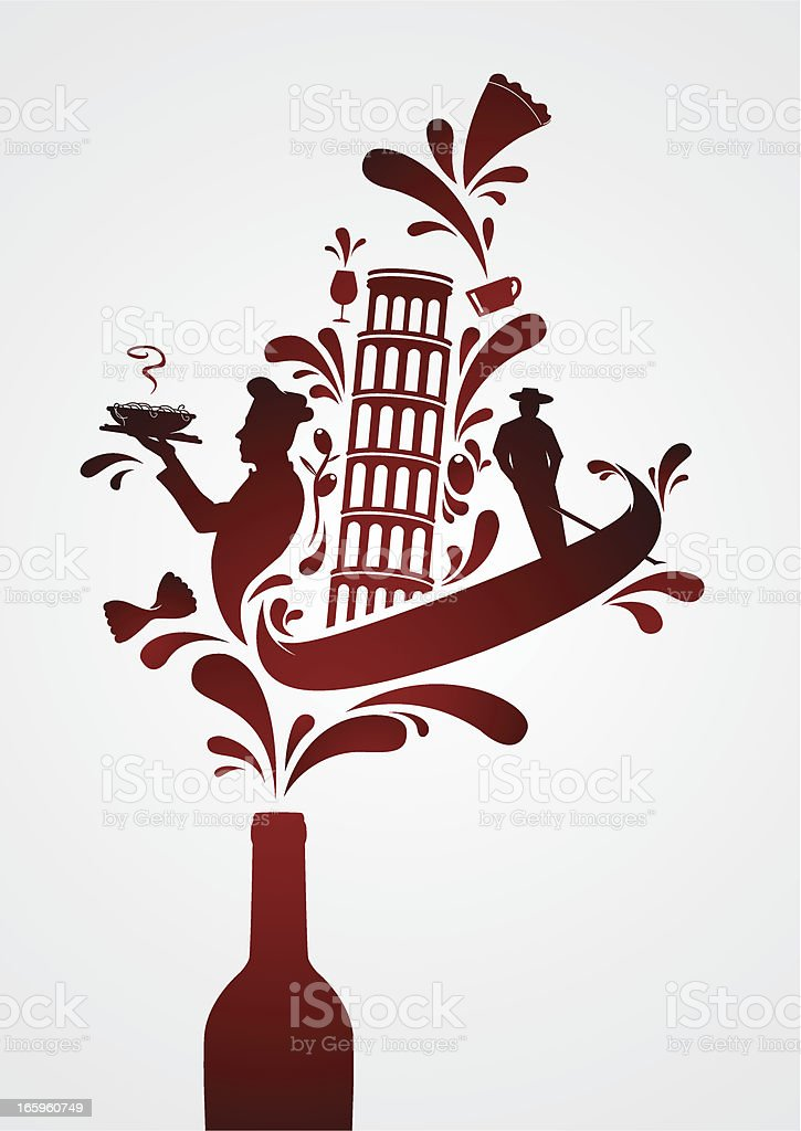 Italian wine royalty-free stock vector art