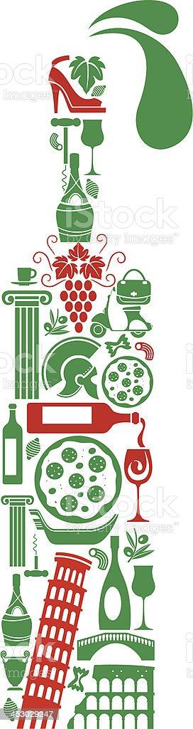 Italian Wine royalty-free stock vector art