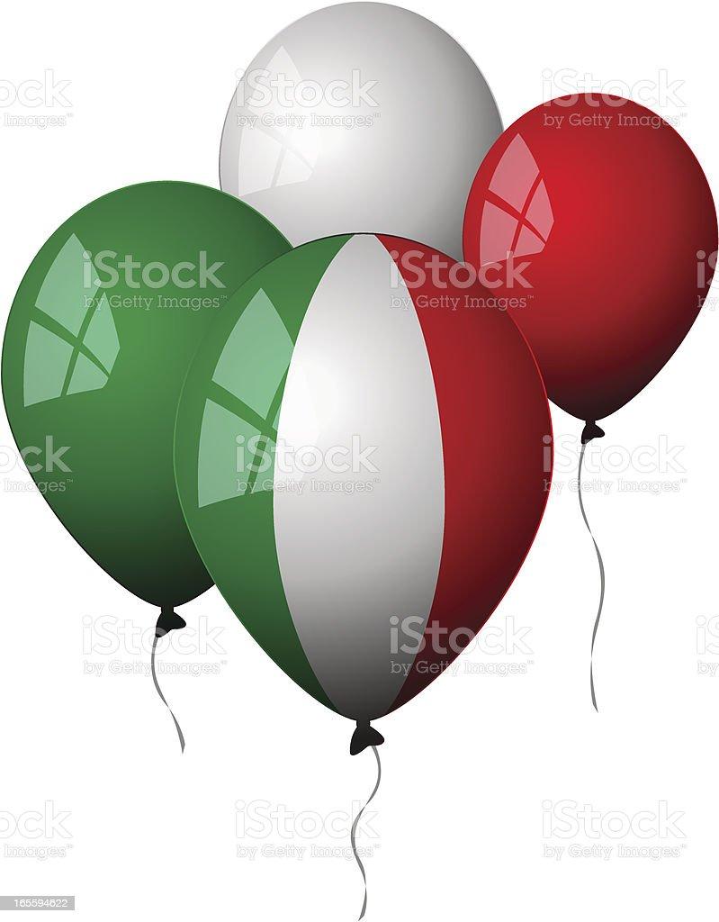 Italy - Balloons royalty-free stock vector art