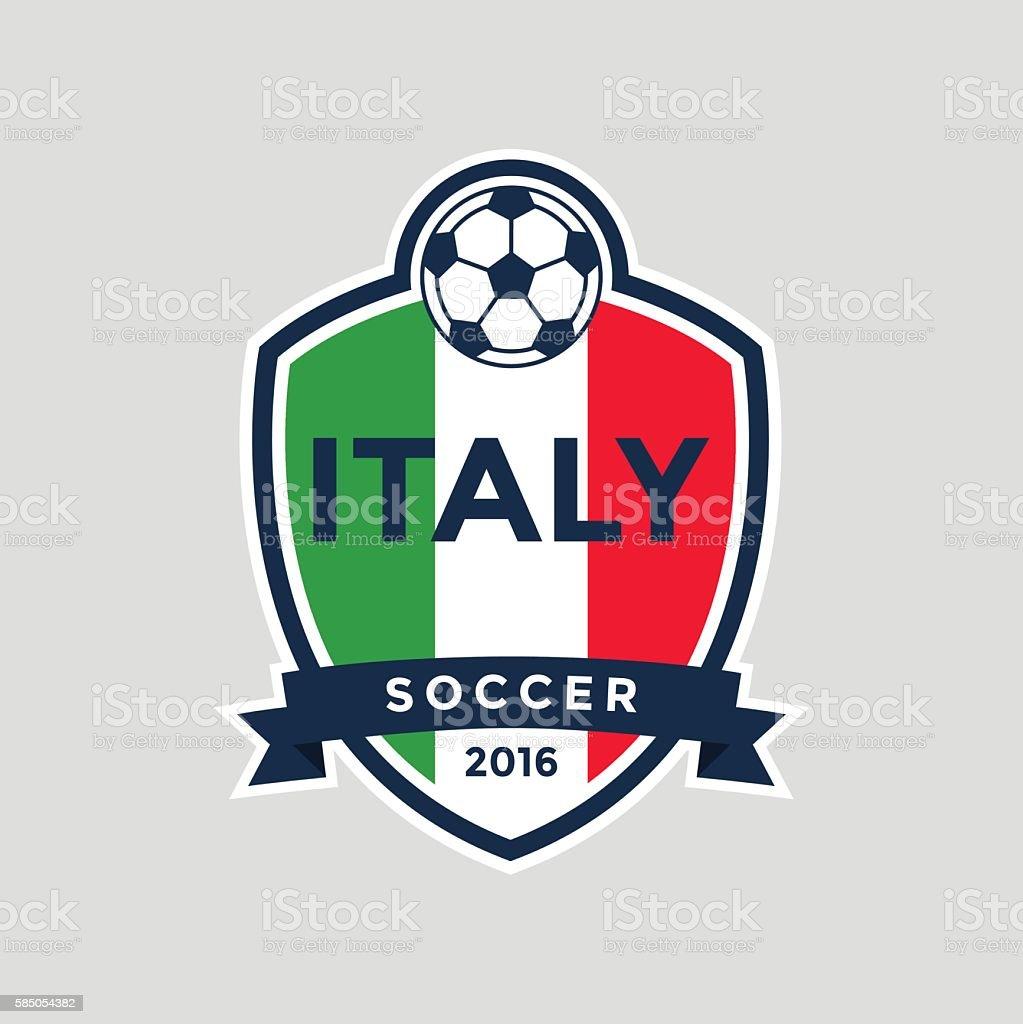 Italy Championship Soccer Crest. vector art illustration