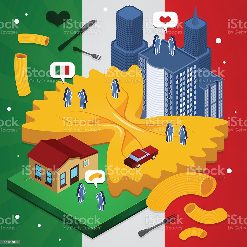 Italy city royalty-free stock vector art
