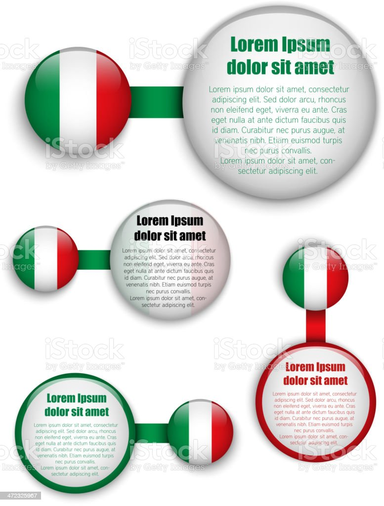 Italy Country Set of Banners royalty-free stock vector art