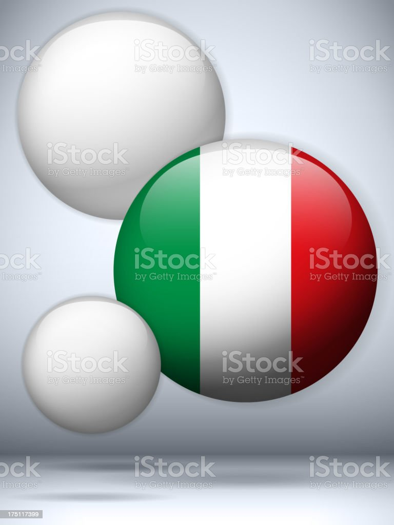 Italy Country Set of Bubbles royalty-free stock vector art
