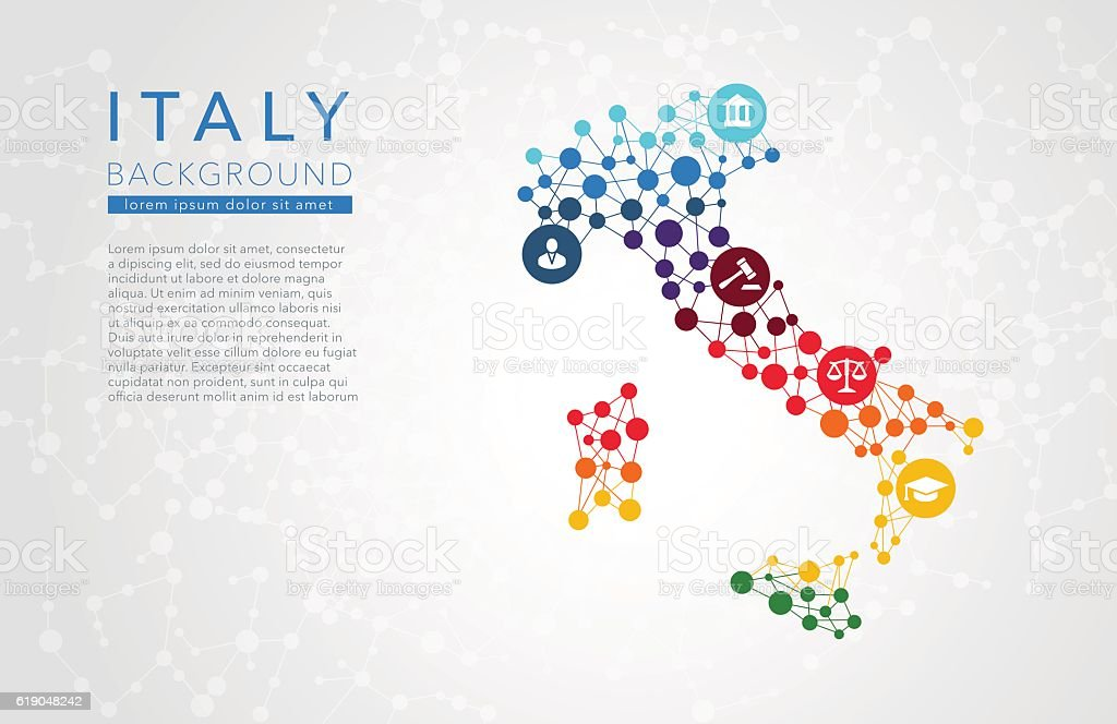 Italy dotted vector background vector art illustration