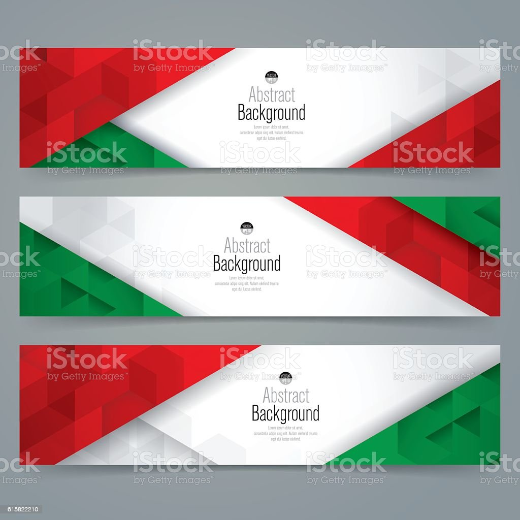 Italy flag colors background banner. vector art illustration
