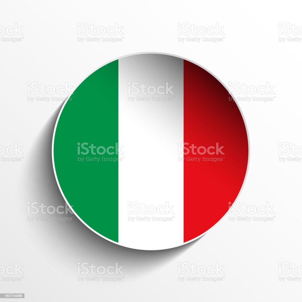 Italy Flag Sticker Button royalty-free stock vector art
