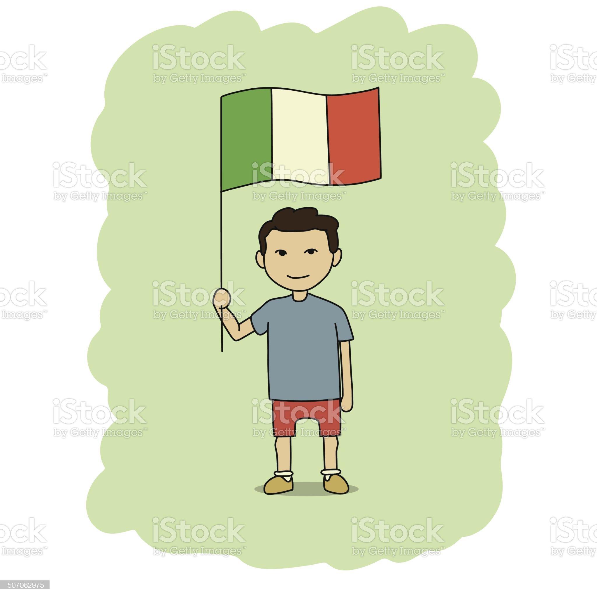 Italy flag royalty-free stock vector art
