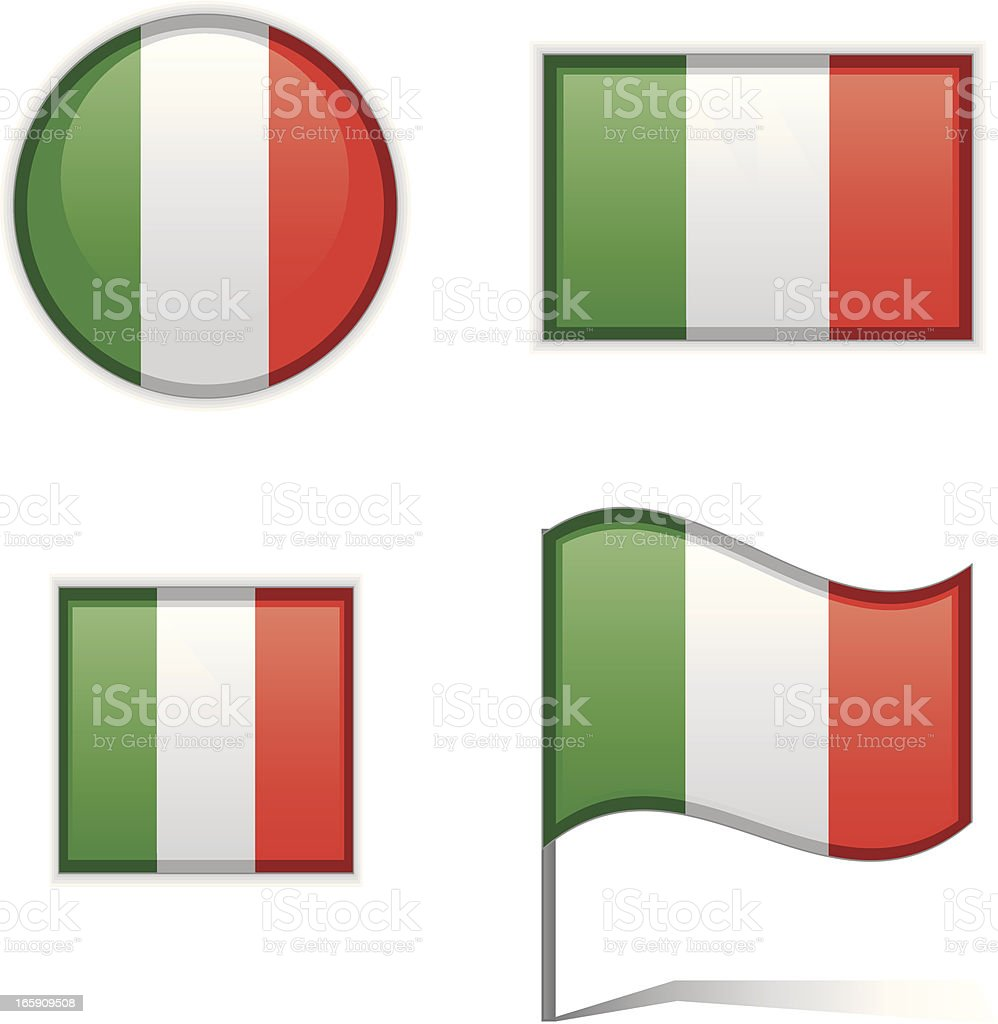 Italy flags royalty-free stock vector art