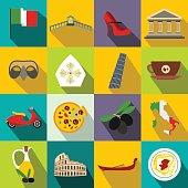 Italy flat icons