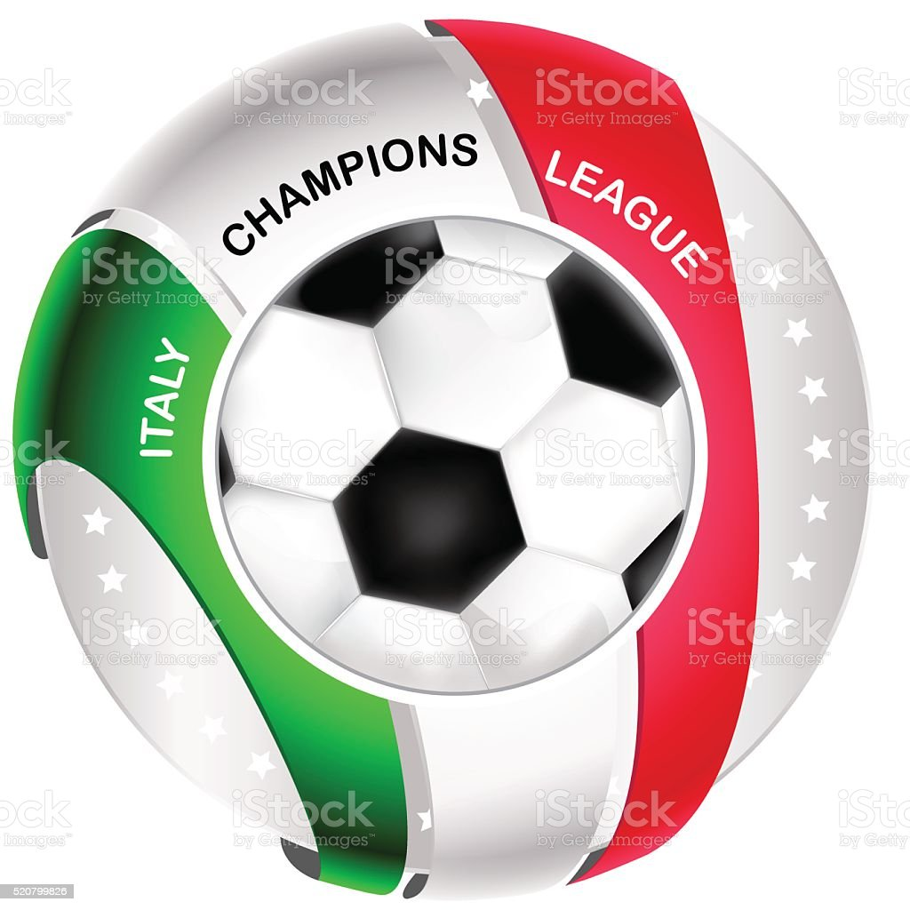 Italy football icon / label vector art illustration