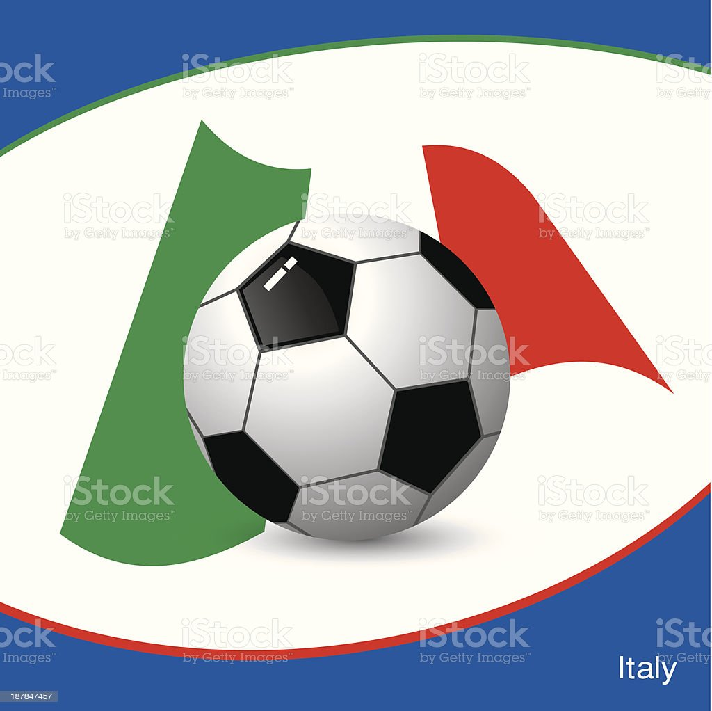 Italy football vector art illustration