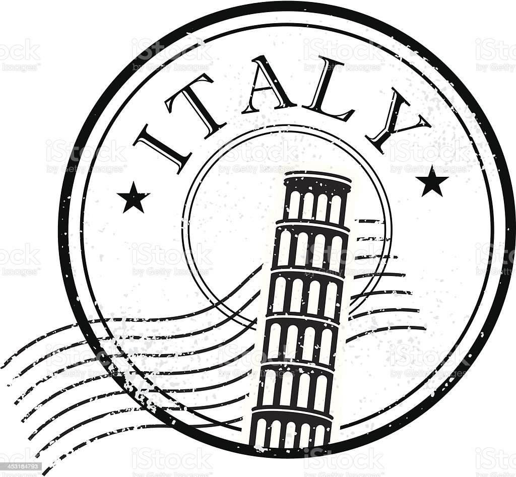 Italy grunge stamp vector art illustration