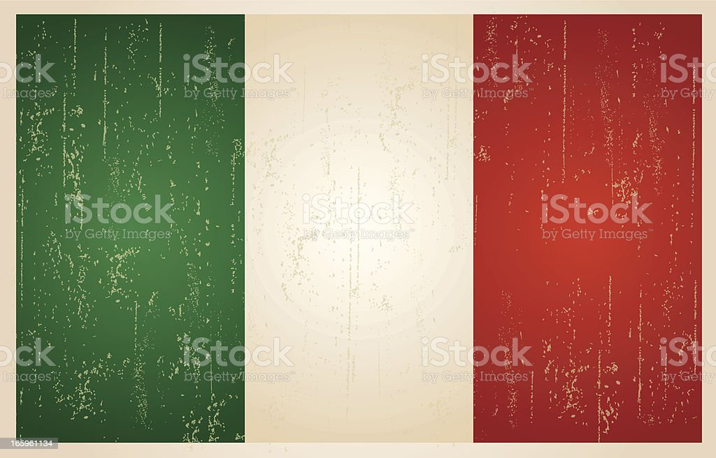 Italy grunge vintage flag vector art illustration