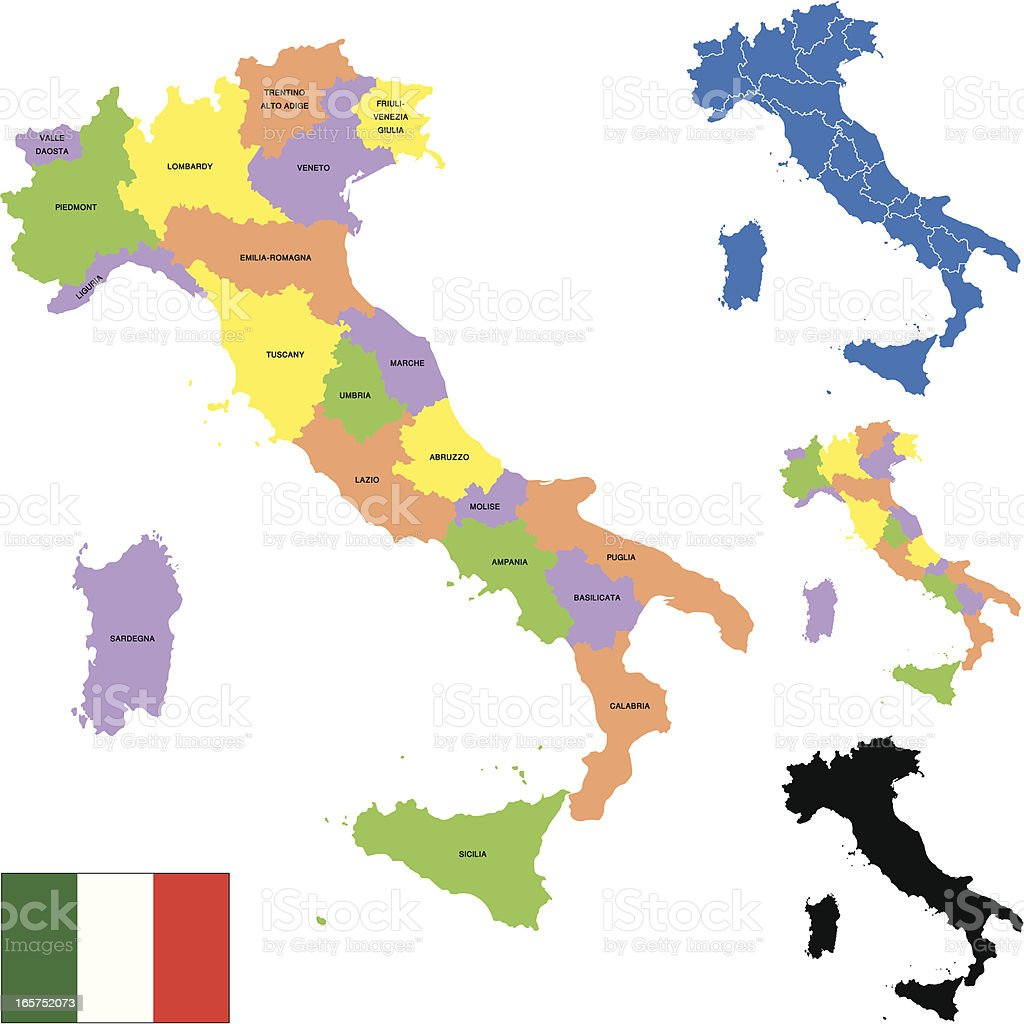 Italy map royalty-free stock vector art