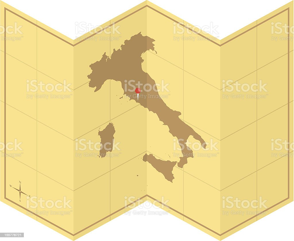 Italy Old Map royalty-free stock vector art