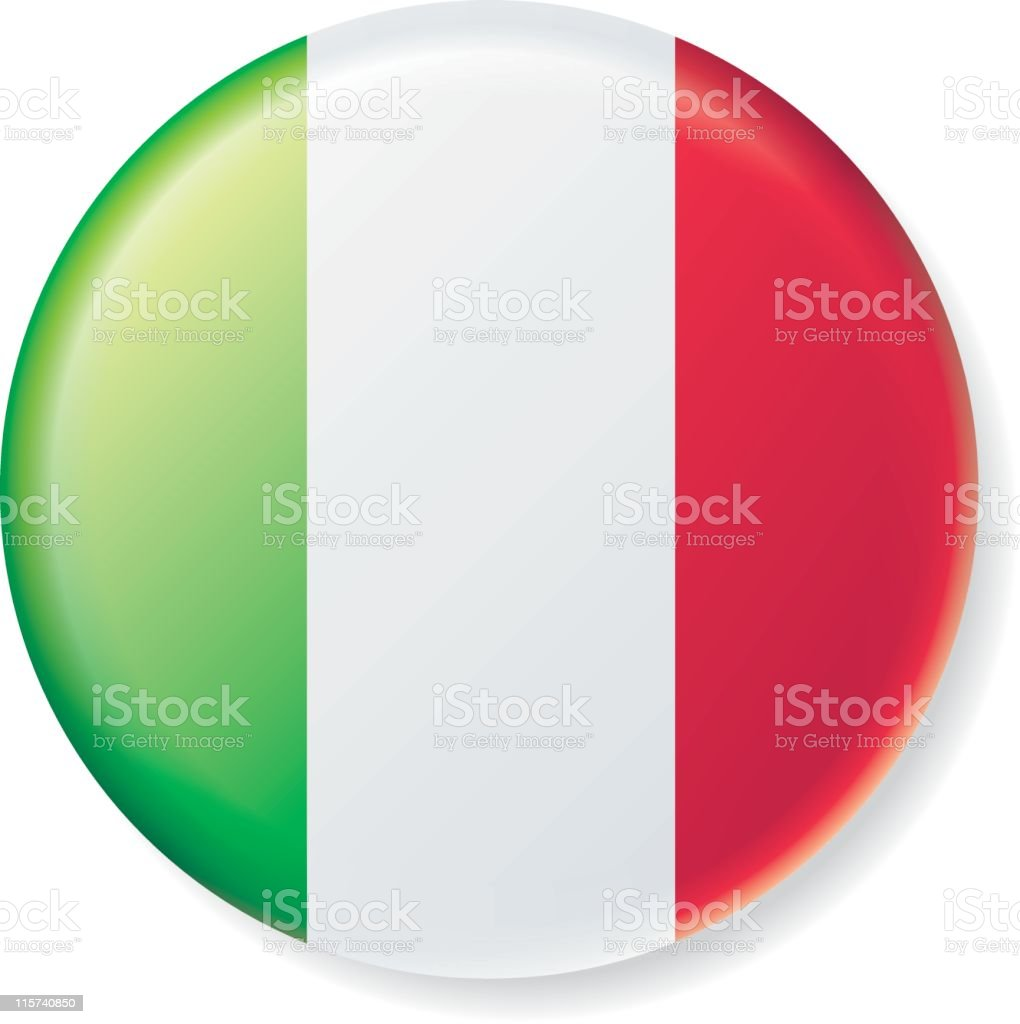 Italy Satin Flag Button royalty-free stock vector art