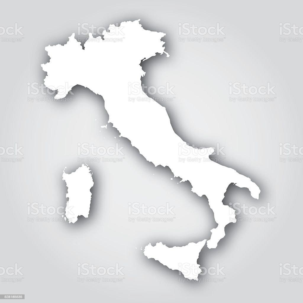 Italy Silhouette White vector art illustration