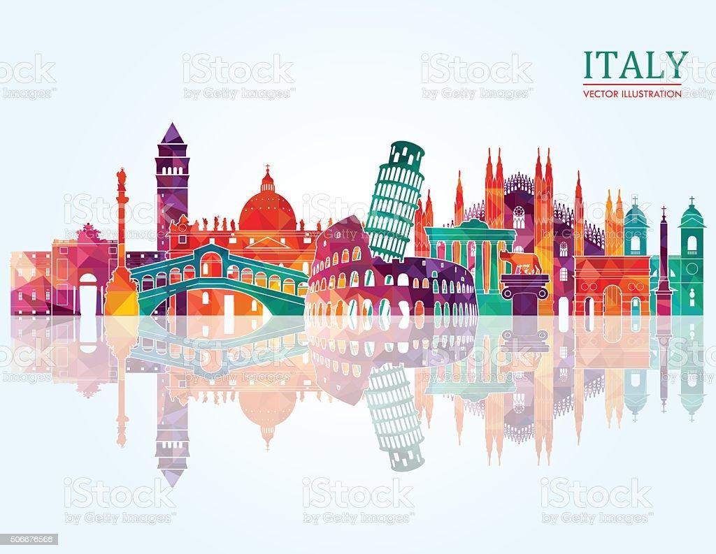 Italy skyline. Vector illustration vector art illustration