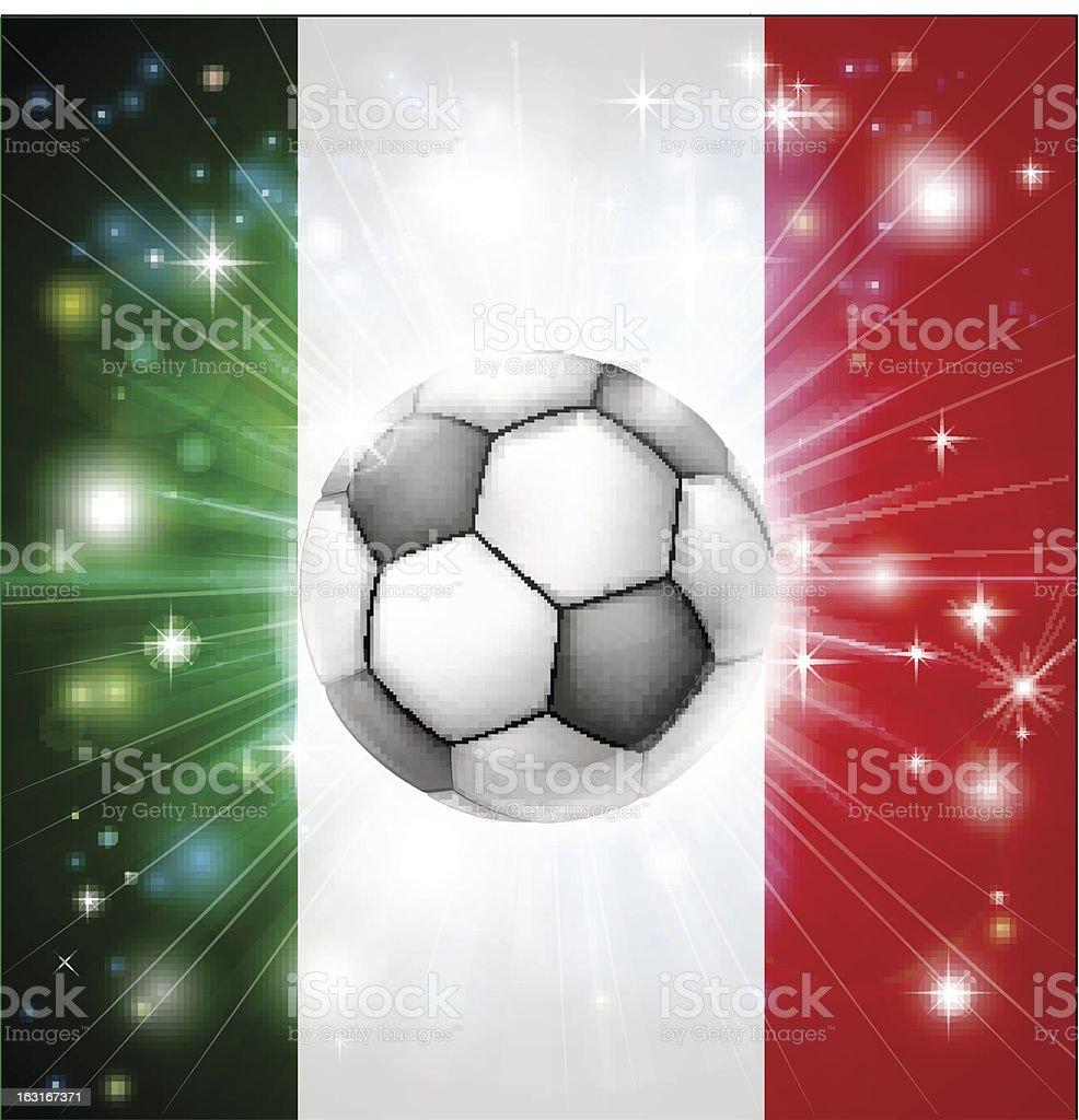 Italy soccer flag royalty-free stock vector art