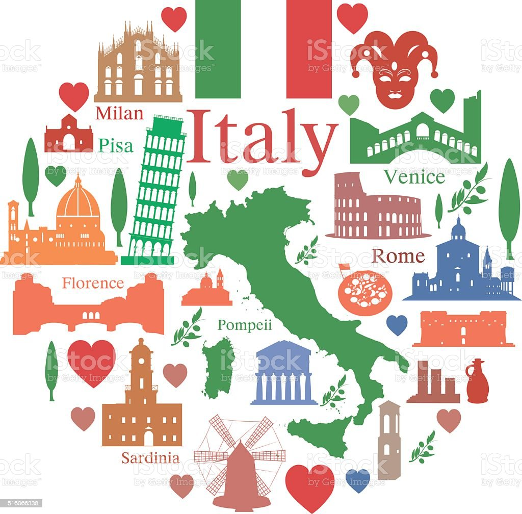 Italy Clipart #213599 - Illustration by visekart